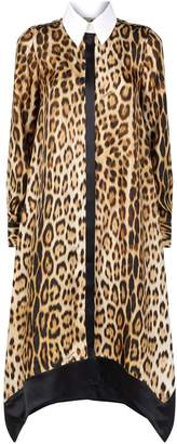 Roberto Cavalli Leopard Print Shirt Dress