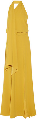 Co - One-shoulder Washed-satin Gown - Marigold $1,250 thestylecure.com