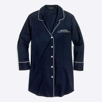J.Crew Factory Embroidered sleep shirt