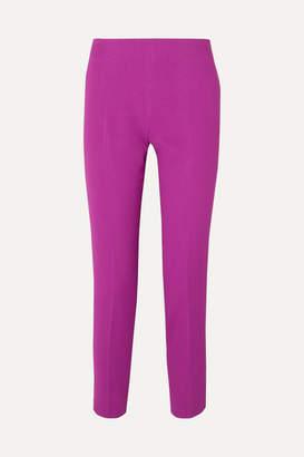 Antonio Berardi Cropped Crepe Slim-leg Pants - Purple