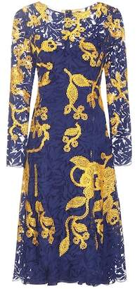Oscar de la Renta Embroidered lace dress