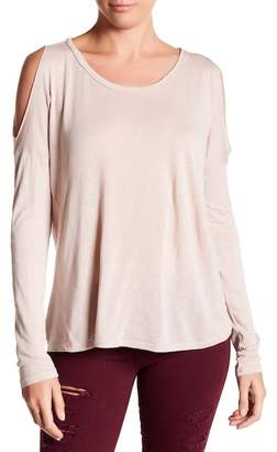 Michael Stars Cold Shoulder Long Sleeve Tee
