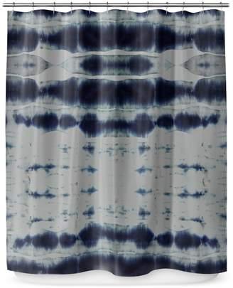 KD Home Shibori Stripe Shower Curtain