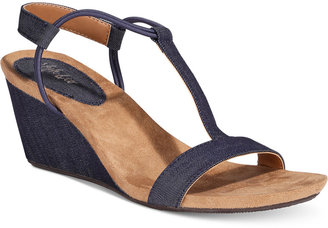 Style & Co Mulan Wedge Sandals, Created for Macy's Women's Shoes $34.98 thestylecure.com
