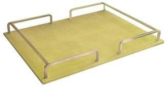 American Atelier Shagrin Gold Rectangular Tray