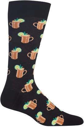 Hot Sox Men Printed Crew Socks