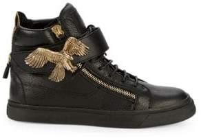Giuseppe Zanotti Camo Print High-Top Sneakers