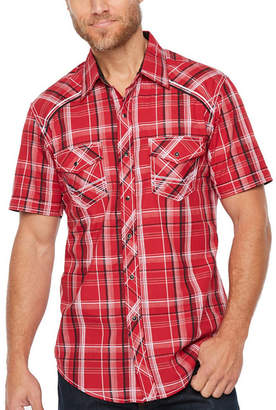 Ely Cattleman Ely 1878 Short Sleeve Plaid Snap Front Western Shirt