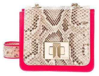 Emilio Pucci Snakeskin-Trimmed Crossbody Bag