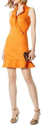 Karen Millen Ruffled Crossover Dress
