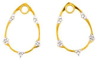 Jude Frances 18K Diamond Belle Earring Charms