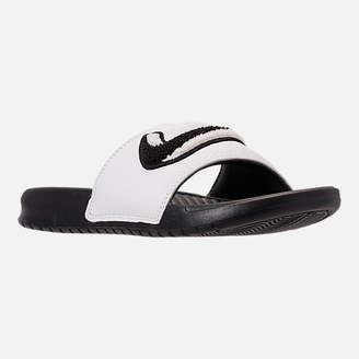 18729a886371c3 at Finish Line · Nike Men s Benassi JDI Chenille Slide Sandals