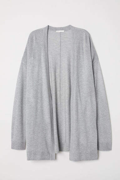 H&M - Fine-knit Cardigan - Gray