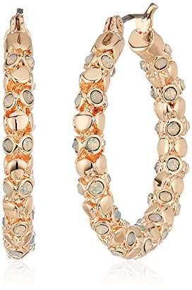 T Tahari Womens Pastel Party Hoop Earrings With Stones