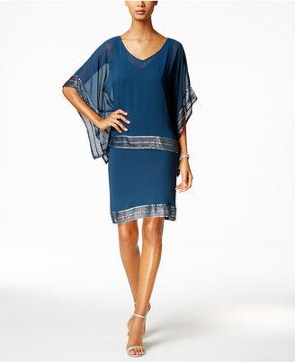 SL Fashions Embellished Chiffon Cape and Dress $89 thestylecure.com