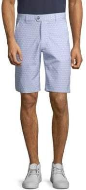 Geometric-Print Buttoned Shorts