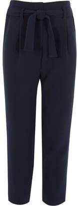 River Island Girls navy tie front trousers