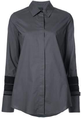 Vera Wang layered cuff detail shirt