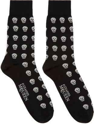 Alexander McQueen Black & White Skulls Socks $70 thestylecure.com