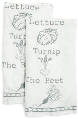 Made In India 2pc The Beet Linen Dish Towels