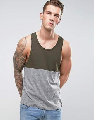 Brave Soul Striped Tank with Contrast Panel