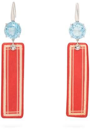 Francesca Villa Topaz & white-gold Easy Living earrings