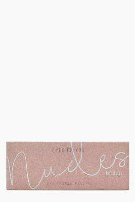 boohoo NEW Womens Eye Shadow Palette 10 Glitter Shades in Nude size One