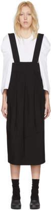 Comme des Garcons Black Panelled Wool Suspender Skirt