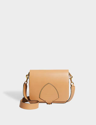 Burberry The Square Satchel Bag in Camel Supple Leather