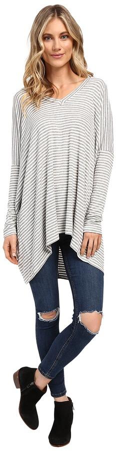 Culture Phit Ellena Striped V-Neck Long Sleeve Top