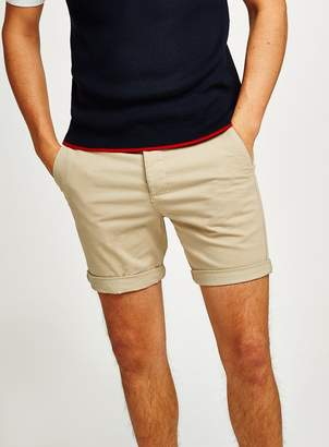 TopmanTopman Stone Stretch Skinny Chino Shorts