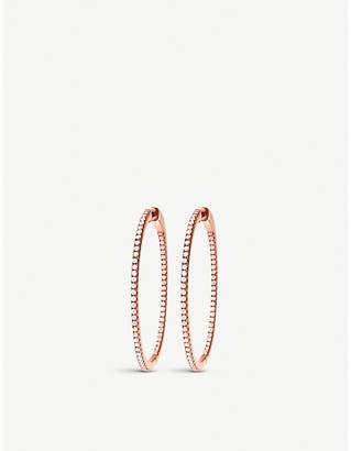 Folli Follie Fashionably Silver Essentials rose gold small hoop earrings