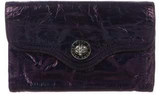 Marc by Marc Jacobs Metallic Distressed Turn-Lock Wallet