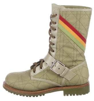 Christian Dior Rasta Cannage Combat Boots