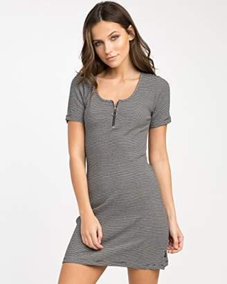 RVCA Junior's Zip It Scoop Neck Dress