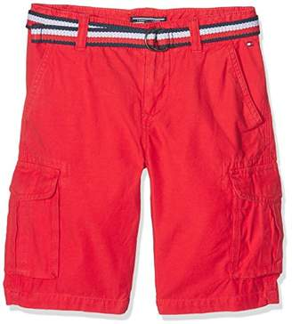 Tommy Hilfiger Boy's AME Cargo Short WHS GD Swim (Mars Red 699), (Size: 14)