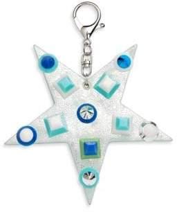 Bari Lynn Studded Star Keychain