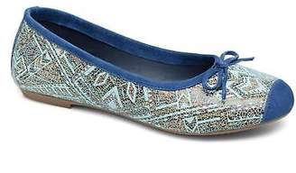 Coco et abricot Women's Belline 2 Rounded toe Ballet Pumps in Blue