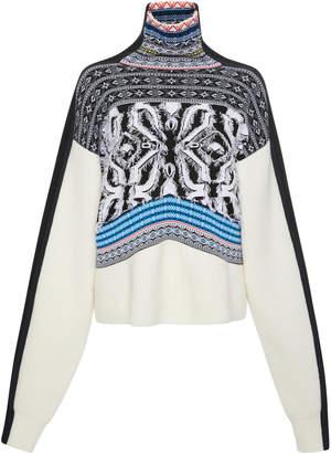 Sportmax Fair Isle Wool-Blend Turtleneck Sweater