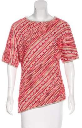 St. John Short Sleeve Knit Top