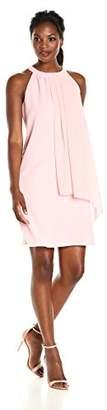Amy Byer Women's Soho Crepe Halter Shift Dress