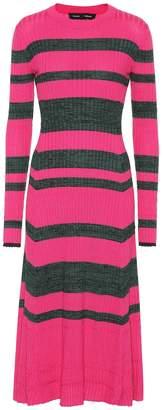 Proenza Schouler Striped wool-blend dress