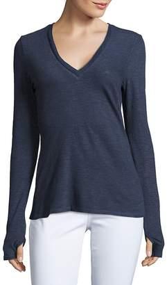 Lanston Sport Women's Textured Long-Sleeve Top