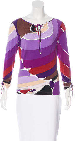 Emilio Pucci Emilio Pucci Abstract Print Long Sleeve Top