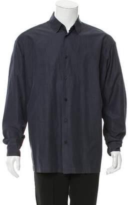 eskandar Point Collar Button-Up Shirt