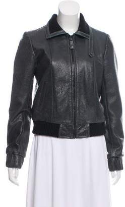 Balenciaga Perforated Leather Jacket