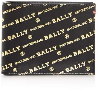 Bally Embossed Leather Bi-Fold Wallet