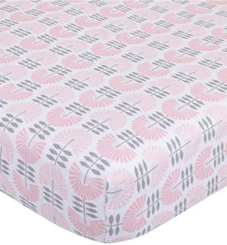 Petunia Pickle Bottom Dreaming in Dax 100% Cotton Fan-Print Jersey-Knit Fitted Crib Sheet Bedding