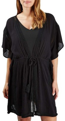 Women's Topshop Fringe Maternity Cover-Up Caftan $58 thestylecure.com