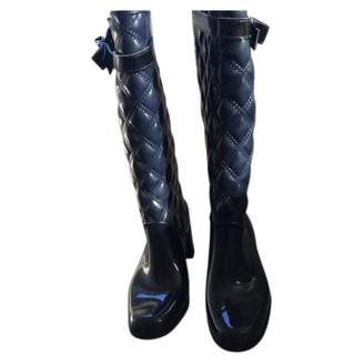 Marc Jacobs Blue Rubber Boots